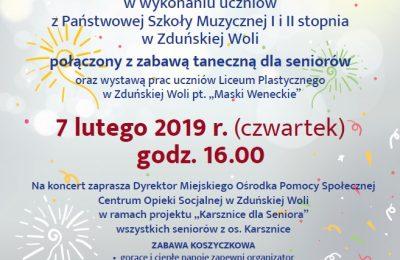 Karsznice dla Seniora – Koncert Karnawałowy